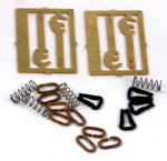 Parkside PS82 - O Scale 3 Link Instanter Couplings Hooks & Springs (2)
